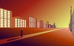 Weg, doelvoltooiing, hindernissen op de manier voor het doel, toewijding, spoorweg, reis stock illustratie
