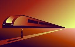 Weg, doelvoltooiing, hindernissen op de manier voor het doel, toewijding, volharding, spoorweg, stock illustratie