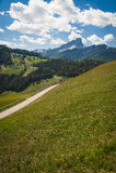 Weg in Dolomietbergen, Italië royalty-vrije stock fotografie