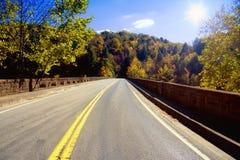 Weg door Appalachians Royalty-vrije Stock Fotografie