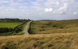 Weg door Dartmoor, Devon Royalty-vrije Stock Foto's