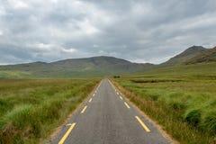 Weg door de Ballaghisheen-Pas, Provincie Kerry, Ierland royalty-vrije stock foto's
