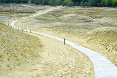 Weg door de duinen Royalty-vrije Stock Foto