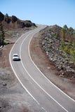 Weg door vulkanische landscap royalty-vrije stock afbeelding