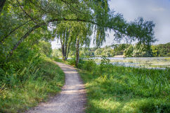 Weg durch den See Stockbild