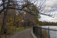 Weg durch den See im Central Park, New York Stockfoto