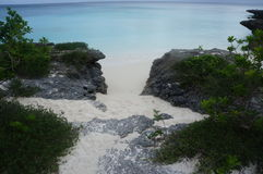 Weg durch den Strand Lizenzfreies Stockfoto