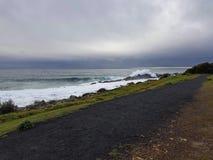 Weg durch die Ozeanlandschaft Lizenzfreie Stockfotos
