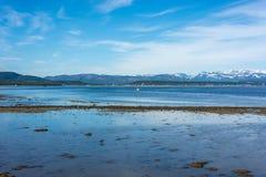 Weg E69 in Finnmark, Nord-Norwegen Lizenzfreies Stockbild