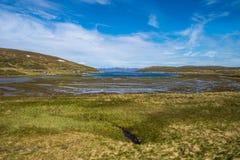 Weg E69 in Finnmark, Nord-Norwegen Lizenzfreie Stockbilder