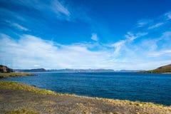 Weg E69 in Finnmark, Nord-Norwegen Stockfoto
