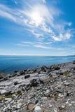 Weg E69 in Finnmark, Nord-Norwegen Stockbilder