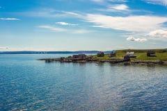 Weg E69 in Finnmark, Nord-Norwegen Lizenzfreies Stockfoto
