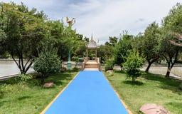 Weg in een mooi park Royalty-vrije Stock Afbeeldingen