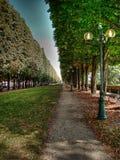 Weg in een park in Parijs Stock Afbeeldingen