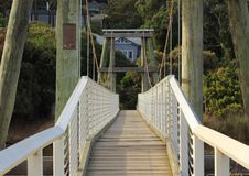 Weg en brug Stock Afbeeldingen