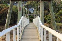 Weg en brug Stock Afbeelding