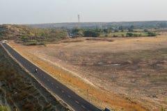 Weg en landschap stock afbeelding