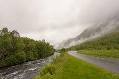Weg en rivier Royalty-vrije Stock Foto