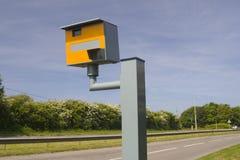 Weg en snelheidscamera Stock Foto's