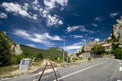 Weg en spoorweg royalty-vrije stock afbeelding