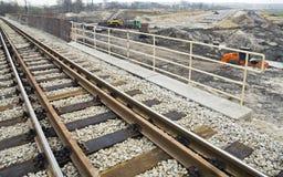 Weg en spoorweg in aanbouw royalty-vrije stock fotografie