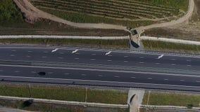 Weg en wijngaarden stock footage
