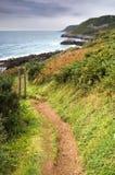 Weg entlang dem Meer Stockfotos