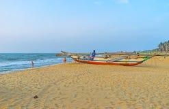 Weg entlang dem Strand in Negombo Stockfotografie