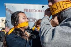 Weg für jährliches internationales Ereignis der Freiheit Stockbild