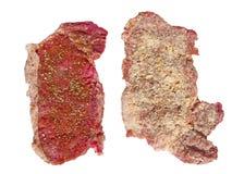 Weg gekämpft dem Fleisch im Panieren und in den Gewürzen Lizenzfreie Stockfotografie