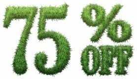 75% weg Gemacht vom Gras lizenzfreie abbildung