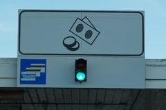 Weg groen verkeerslicht Royalty-vrije Stock Fotografie