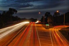 Weg HDR bij Nacht Stock Foto's