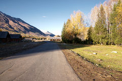 Weg in Hemu-dorp Stock Foto's