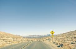 Weg in het Nationale Park van de Doodsvallei Stock Foto's