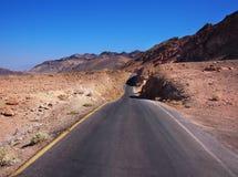 Weg in het nationale park van de Doodsvallei, Californië, de V.S. Stock Fotografie