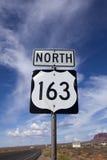 Weg 163 het Noordenverkeersteken Stock Afbeeldingen