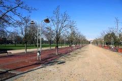 Weg in het openbare park genoemd CAMPO MARZO in Vicenza, Italië Stock Foto's