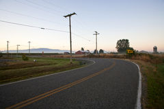 Weg in het platteland Stock Afbeelding