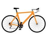 Weg het rennen fiets op witte achtergrond stock afbeelding