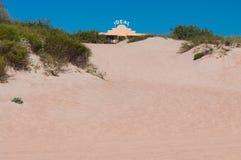 Weg in het zand Royalty-vrije Stock Afbeelding