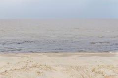 Weg in het zand van Lagoa do Patos meer Royalty-vrije Stock Fotografie
