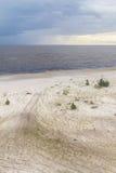 Weg in het zand van Lagoa do Patos meer Royalty-vrije Stock Foto