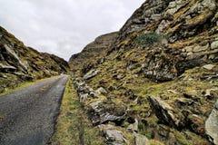Weg in heuvels van Dingle schiereiland Royalty-vrije Stock Foto