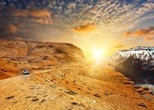Weg in Himalayagebergte Stock Afbeelding
