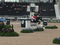 2018 world Equestrian games - Eventing Show jump finale with Canadian rider stock photo