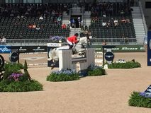 2018 world Equestrian games - Eventing Show jump finale with Canadian rider stock images