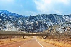 Weg I-15 in Utah Royalty-vrije Stock Foto