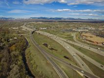 Weg I70, Arvada, Colorado Stock Fotografie